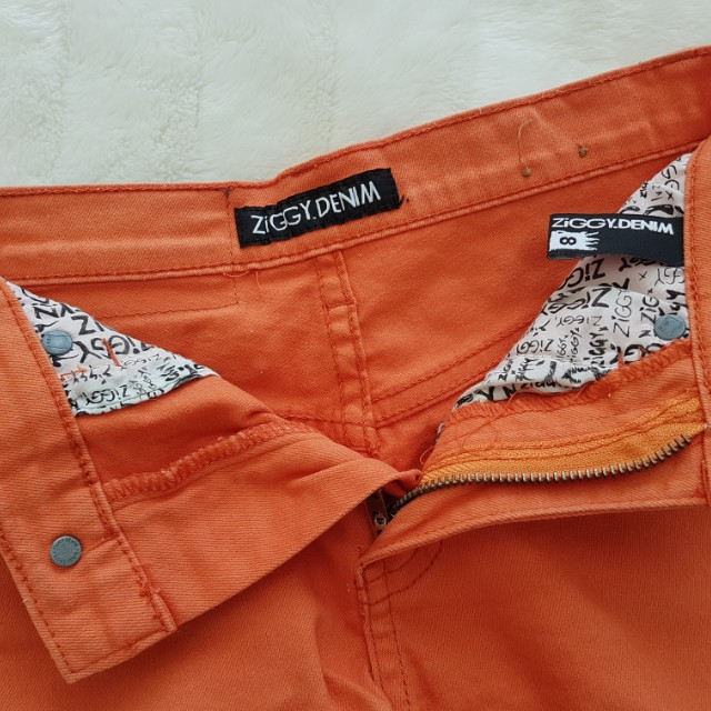Ziggy - Orange Denim Shorts - Size 8