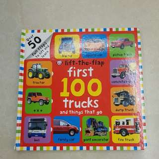 First 100 lip and flap book tracks and all the things that go