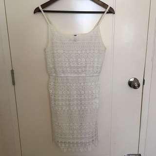 H&M White Lacey Dress
