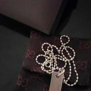 Gucci necklace and pendant