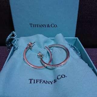 (急放) Tiffany & Co. 1837 純銀圓形耳環