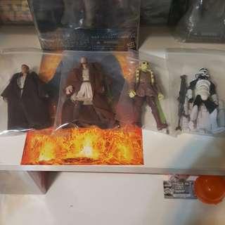 """Star Wars 3.75"""" Super Articulated Qui-Gon Jinn, Obi-Wan Kenobi, Kit Fisto, Scuba Trooper"""