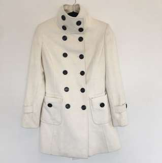 Custom made Cashmere Coat with buttons XS