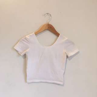 American Apparel Cotton Spandex Cropped Tee