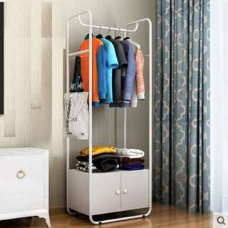 Clothes Rack with Cabinet