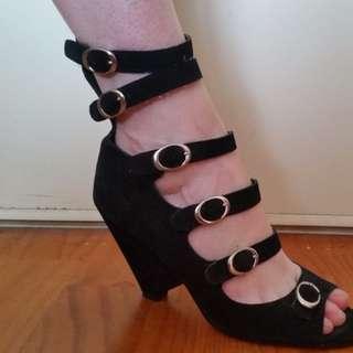 Black wedges shoes sz.8