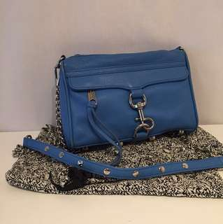 Rebecca minkoff mini Mac bag - bright blue