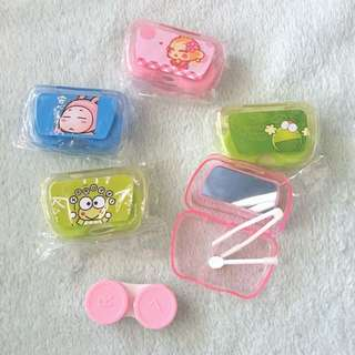 Clearance Stock !! Cartoon Contact Lens Casing With Mirror