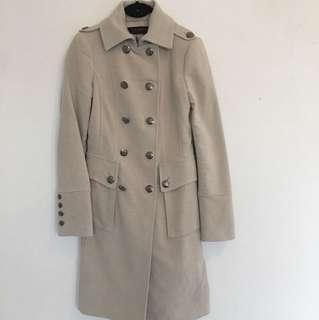 Zara women's button down Jacket beige size XD