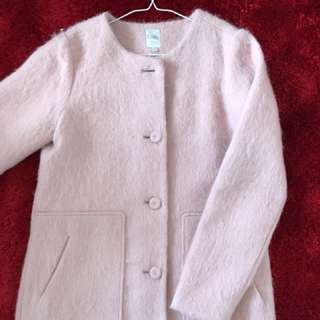 Pink wool coat size M