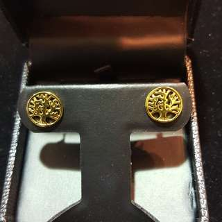 Life tree stud earings