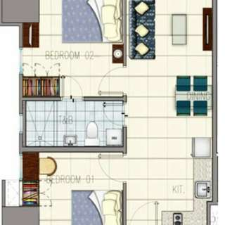 2 bed rooms @ GRASS RESIDENCES