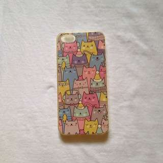 pastel cats iphone case