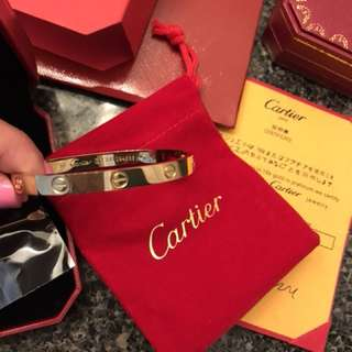 Cartier love bracelet gold and rose gold