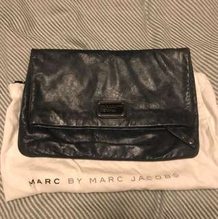 Marc By Marc Jacobs navy blue clutch