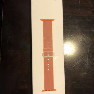42mm Woven Nylon Space Orange Stainless Steel Buckle
