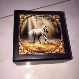 Anne stokes jewellery box unicorn