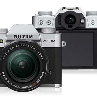 Silver Fujifilm X-T10 Mirrorless-16-50mm F3.5-5.6 KIT