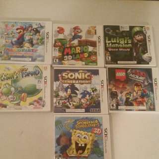 3ds games $15 each or all for $70