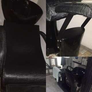 美髮沖水椅不繡鋼材質,9成新(可議價,限自取)