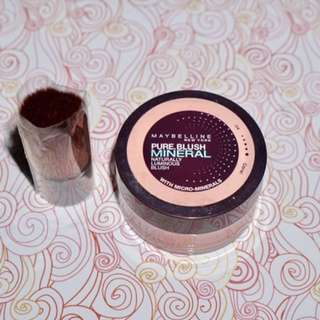 Maybelline Pure Blush Mineral in Coral (with unused brush)