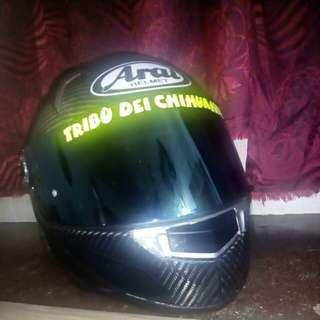 Arai Carbonfiber with iridium blue visor