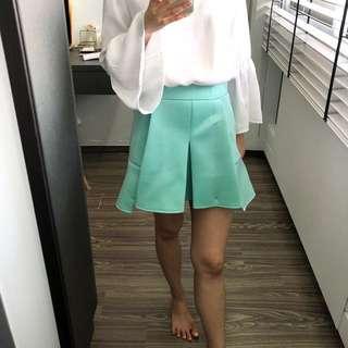 Korean waisted skirt tiffany blue