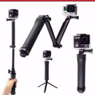 Gopro 3 Way Monopod Stick / Pole