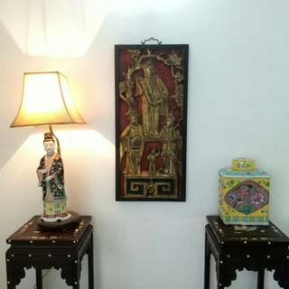 Collectibles Vintages Chinese Figurine Porcelain Table Lamp