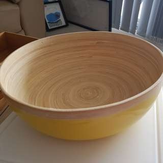 Beautiful Bamboo fruit bowl ( lemon yellow colour)