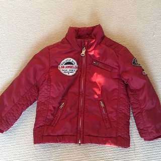 Guess Designer Boys Puffer Jacket - Red - Size 2
