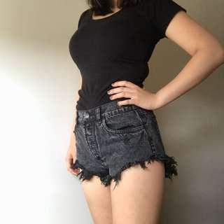 FACTORIE Ripped Denim Shorts