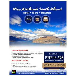 New Zealand South Island 5D4N Tour