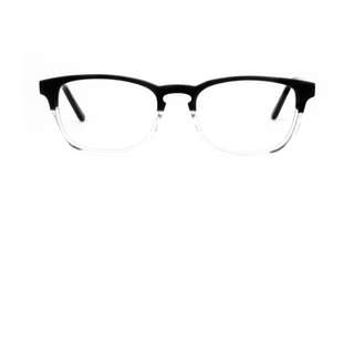 KALE Black Clear Fashion Unisex Glasses