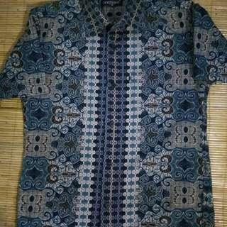 Kemeja batik biru uk M