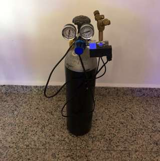 CO2 cylinder with solenoid
