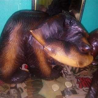 Australian Bear Wooden Sculpture