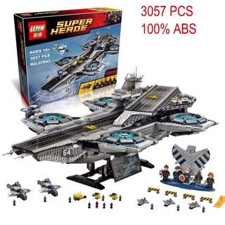 LEPIN 07043 Super Heroes series The SHIELD Helicarrier Model Building Blocks