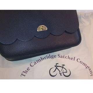 Cambridge Satchel Genuine Grain Leather Wavy Cloud Satchel