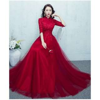 Oriental Red Evening Gown