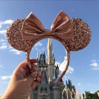 Limited edition rosegold minnie ears
