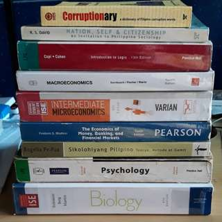 Selling Assorted Textbooks, Dictionaries, References