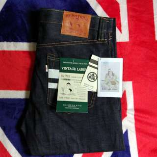 Momotaro Jeans BNWT 15.7 Oz Selvedge Blue Indigo Tight Fit Straight