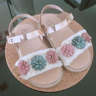 Zara Baby Floral Sandals Size 21