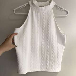 TEMT White Cropped Top
