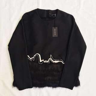 FRS Black Co-rd w/ Fur Details
