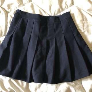 🚚 深藍百褶裙