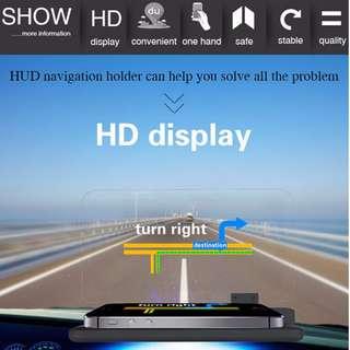 H6 UNIVERSAL CAR GPS NAVIGATOR SMARTPHONE HUD HEAD UP DISPLAY HOLDER