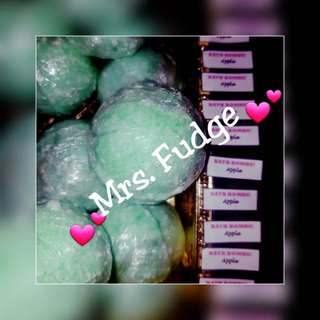 🍏 Apple fizzy bath bombs! ❤