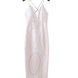 Beautiful Long White Lace Dress